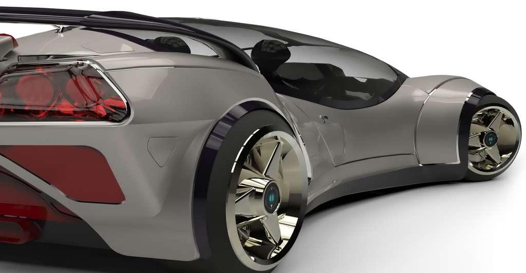 Concept car d'une voiture du futur. © DM7, Shutterstock