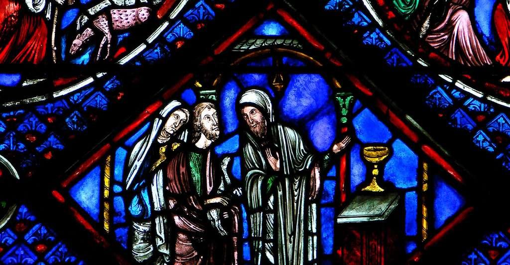 Vitrail de la cathédrale Saint-Pierre-et-Saint-Paul de Troyes, début du 13ème siècle. © Vassil, Wikimedia commons, DP