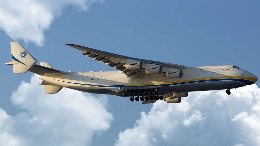 L'Antonov An-225, le plus long et le plus lourd avion du monde