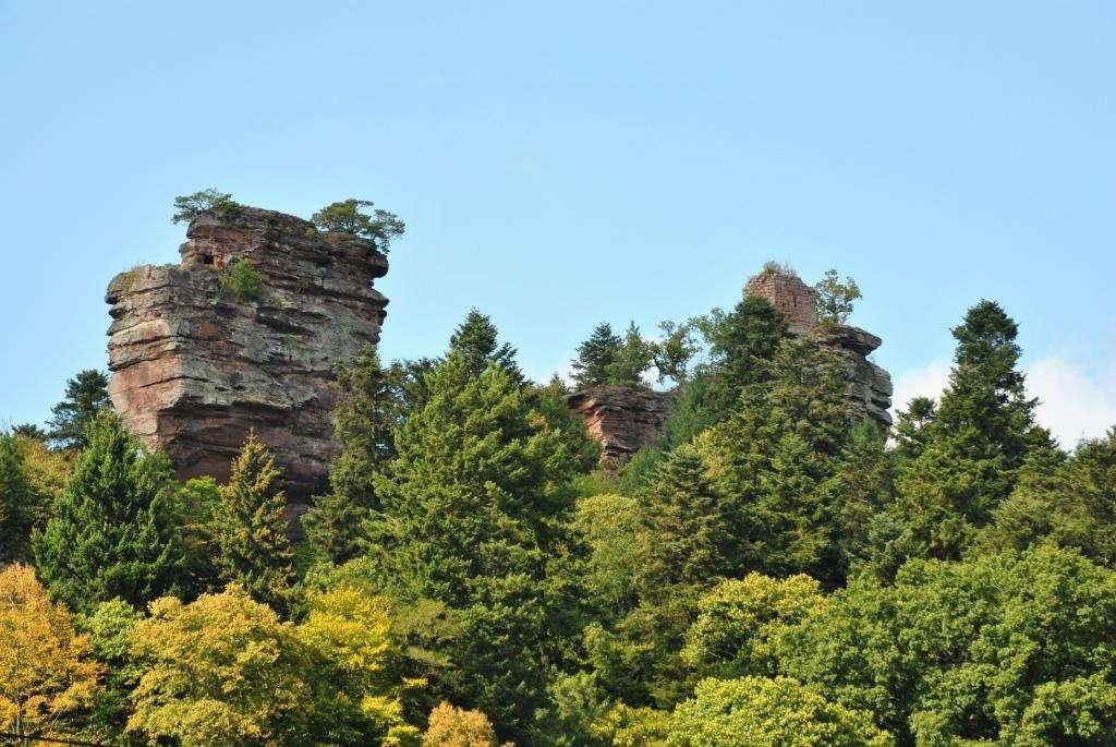 Les châteaux de Windstein, dans le parc naturel régional des Vosges du Nord. © Ranulf 1214, Flickr