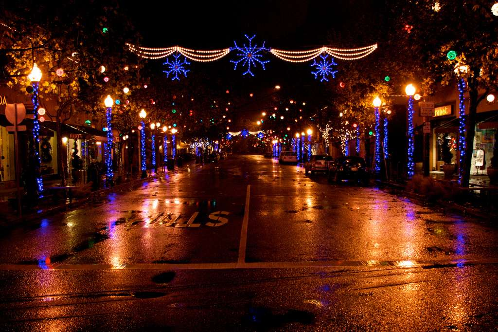 Décorations de Noël à Berkeley