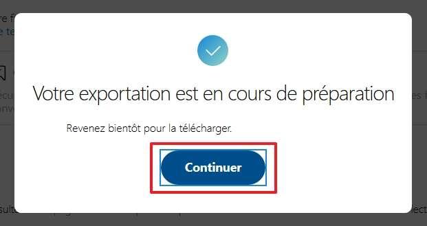 Cliquez sur « Continuer ». © Microsoft