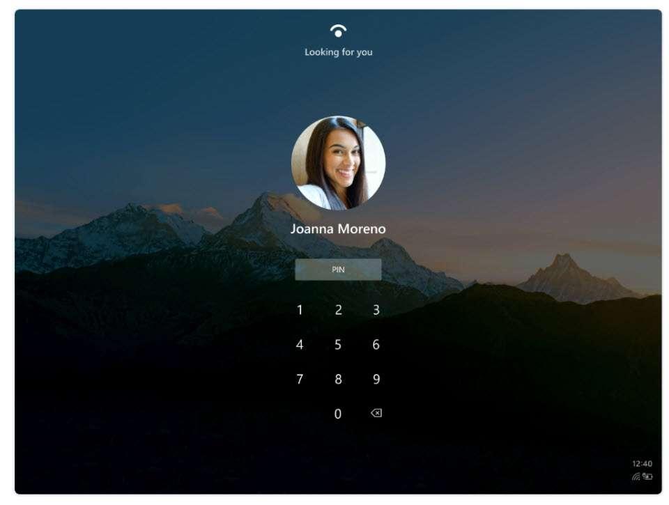 Comme sur un smartphone, le déverrouillage s'effectuera avec la reconnaissance faciale ou un code PIN. © Microsoft
