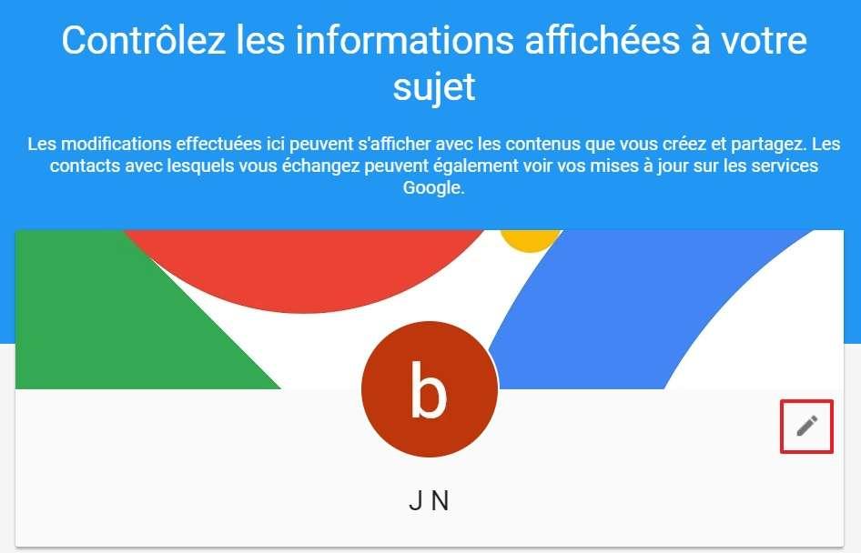 Cliquez sur l'icône en forme de crayon. © Google Inc.