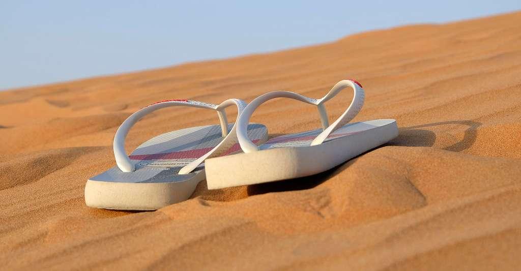 Le sable des plages françaises est composé de silice. © Leovalente, DP