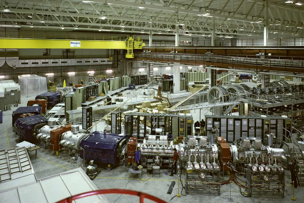 L'Antiproton Accumulator (AA) en construction en 1980. © Cern