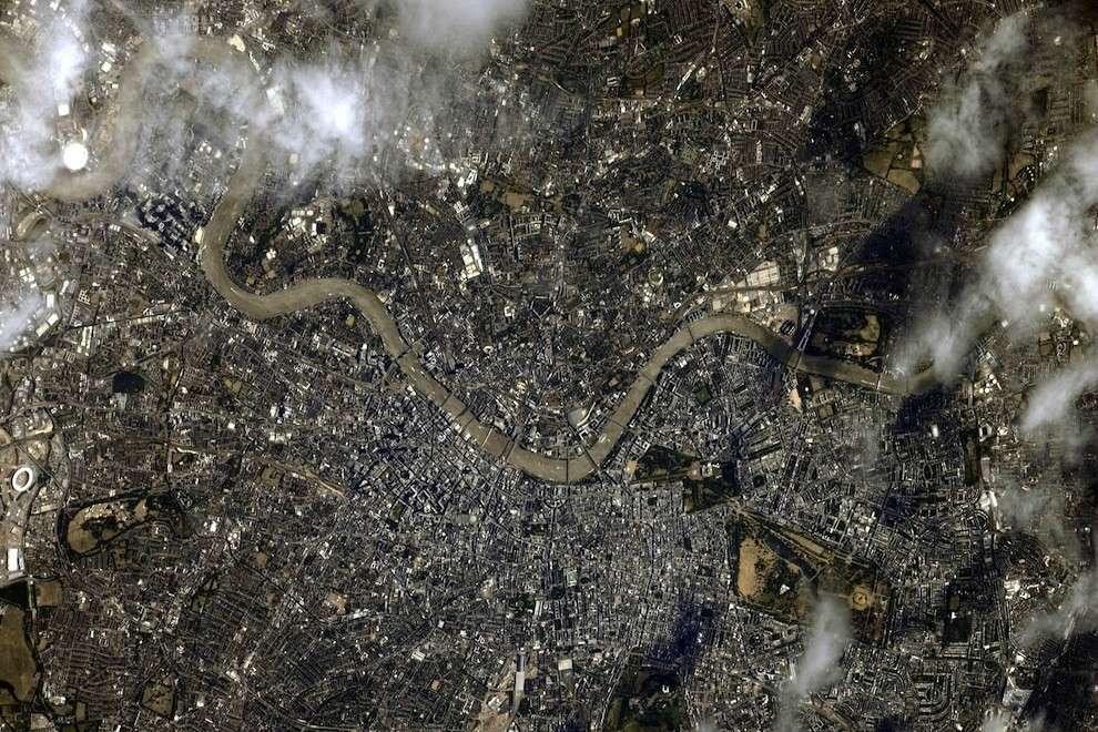 Londres vue de l'ISS