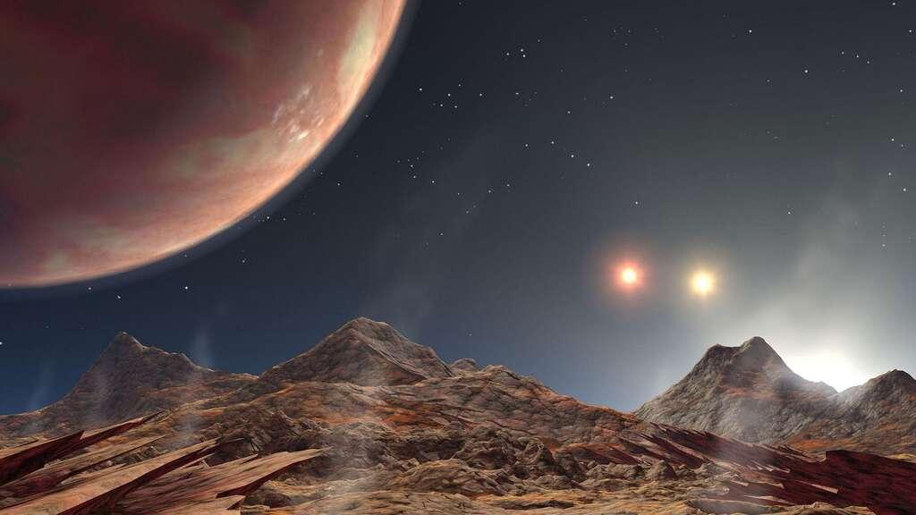 Triple coucher de soleil sur une planète du système HD 188753