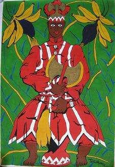 En Afrique subsaharienne, le dieu guerrier Shango gouverne grâce à la foudre. © Barbarella Gonzalez Acevedo, CC by-sa 3.0