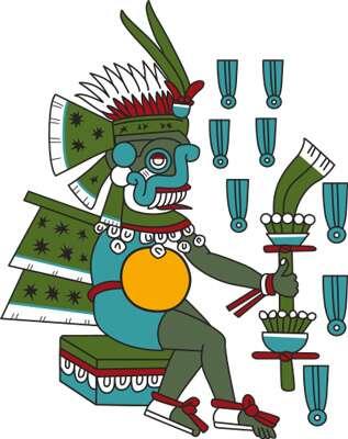La foudre était personnifiée par Tlaloc chez les Aztèques. © Eddo, CC by-sa 3.0