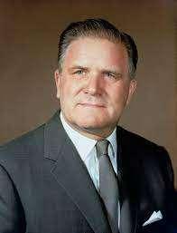 Le second administrateur de la Nasa de 1961 à 1969, James E. Webb, ayant dirigé le programme lunaire Apollo. © Nasa