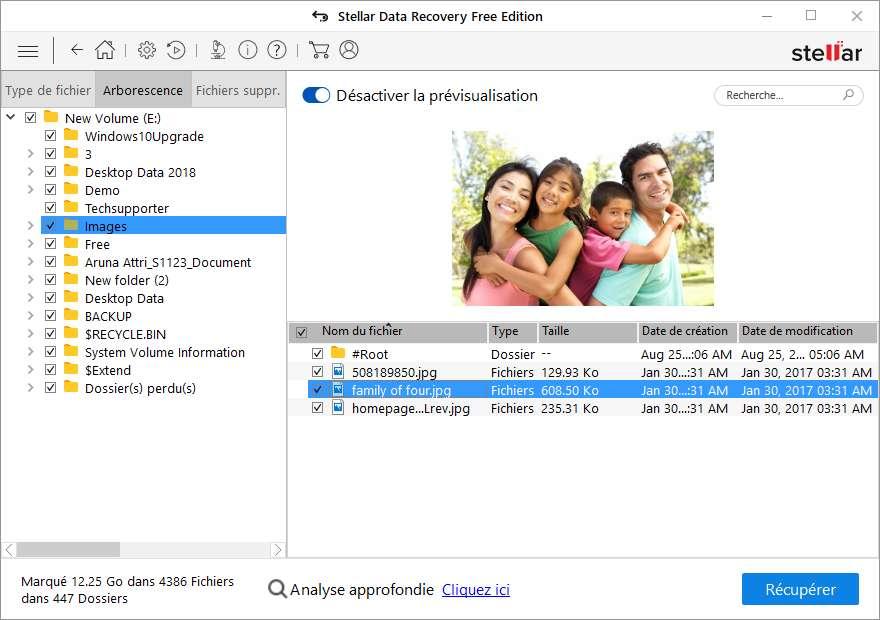 © Stellar Data Recovery permet de récupérer gratuitement jusqu'à 1 Go de données perdues ou endommagées sur Windows ou Mac