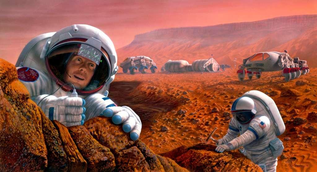 La Nasa, qui prépare une première mission habitée à destination de Mars à l'horizon 2030, s'appuie notamment sur le travail réalisé par la Mars Society dans ses quatre sites terrestres analogues à la planète. Notamment celui situé dans le désert de l'Utah où, en février 2016 et 2017, deux équipages de l'ISAE-Supaéro ont réalisé une mission. © Nasa, SAIC, Pat Rawlings