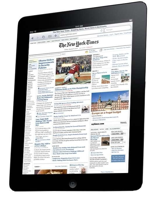 L'iPad n'a jamais été compatible avec Flash, bien que ce format de vidéos soit très utilisé sur le Web, et notamment par des éditeurs de journaux qui espèrent bien distribuer leurs magazines sur les tablettes. © Apple