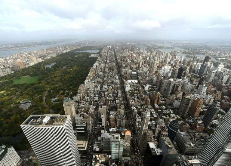 Vue de New York et de Central Park en octobre 2014. © Timothy A. Clary, AFP, Archives