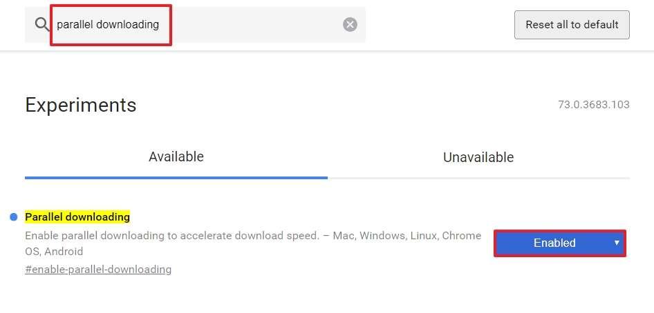 Parallel Downloading permet de télécharger des fichiers plus rapidement. © Google Inc.