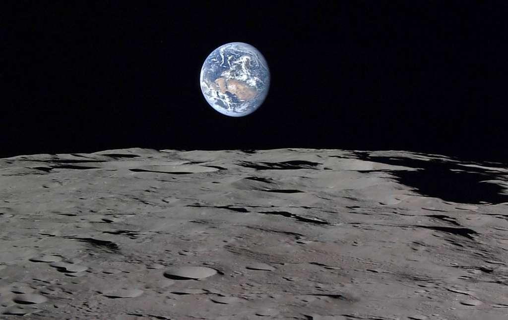 La Lune en point de mire. © Jaxa, NHK