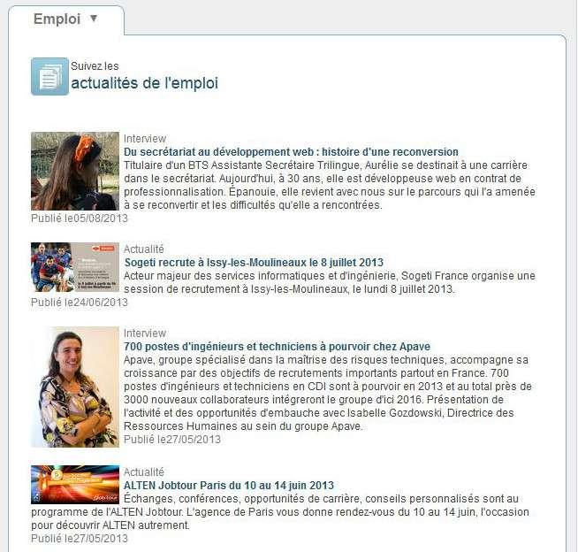 Pour vous informer sur l'actualité de votre secteur, des interviews d'experts, des informations sur les entreprises qui recrutent et les forums dédiés à l'emploi. © Futura-Sciences