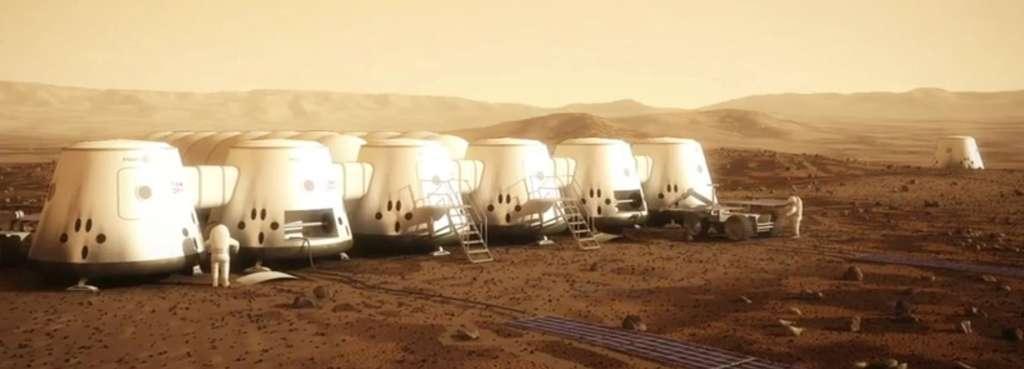 Concept de colonie humaine sur Mars. © Nasa