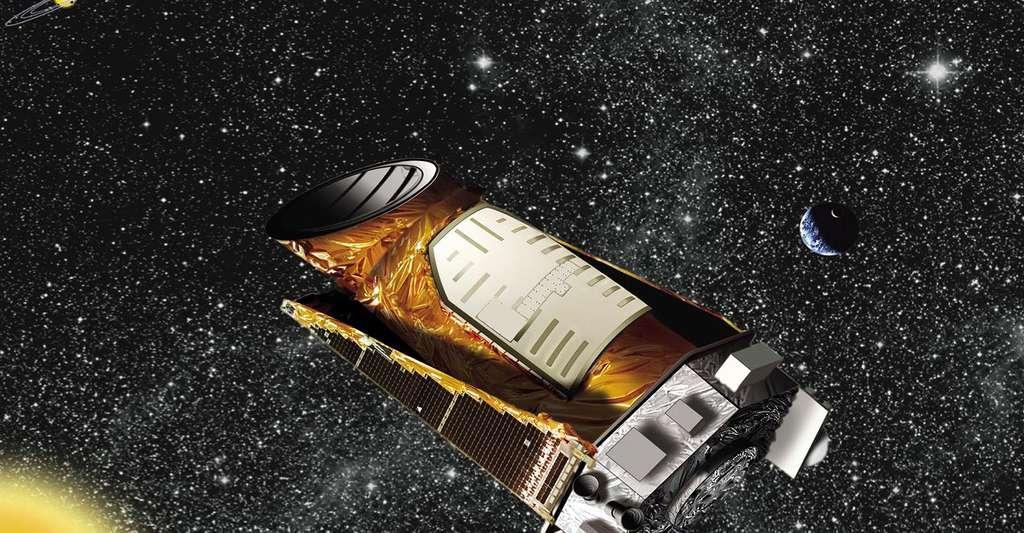 Quels sont les satellites qui étudient les vibrations stellaires ? Ici, vue d'artiste de Kepler. © Nasa, Ames, JPL-Caltech, Wikimedia Commons, DP