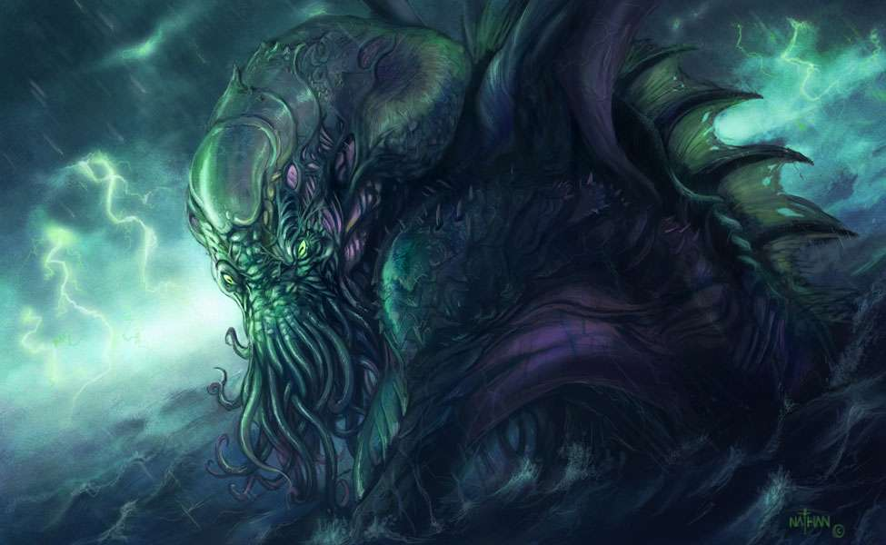 Illustration du personnage de Cthulhu dans le roman «L'Appel de Cthulhu» de H.P. Lovecraft. © Nathan Rosario, DeviantArt