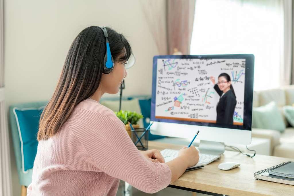 Les plateformes de cours en ligne et le contact avec les professeurs et les autres étudiants font partie des clés de la réussite des études à distance durant le confinement. © ake1150, Adobe Stock