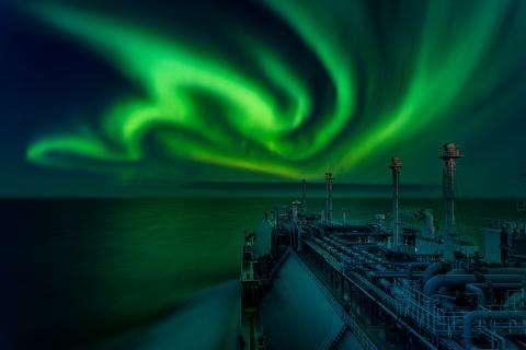 Cette «Danse d'aurore boréale» a remporté le prix dans la catégorie «Aurores polaires». © Dmitrii Rybalka, Astronomy Photagrapher of the Year 2021