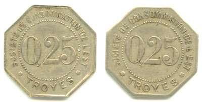 Troyes monnaie ancienne Billet de 1921