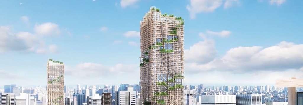 Le gratte-ciel du conglomérat japonais Sumitomo sera haut de 350 mètres. © Sumitomo Forestry