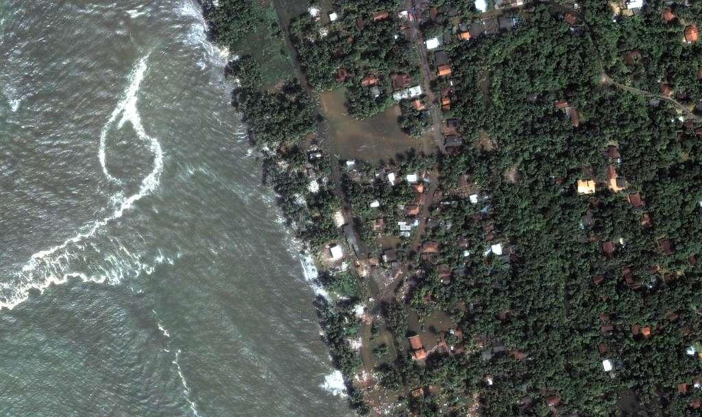 Srilanka - Kalutara : arrivée du tsunami