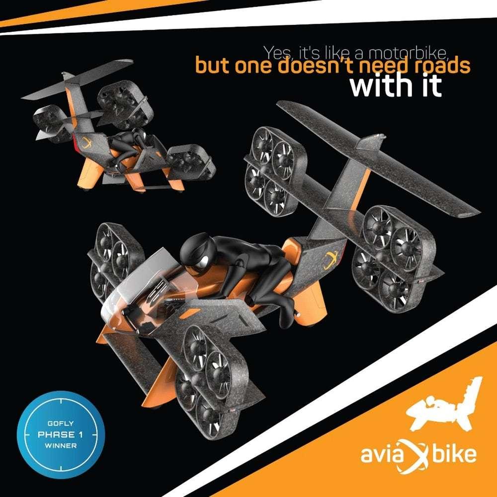 L'Eva Aviabike semble être le plus complexe techniquement. © Aeroxo