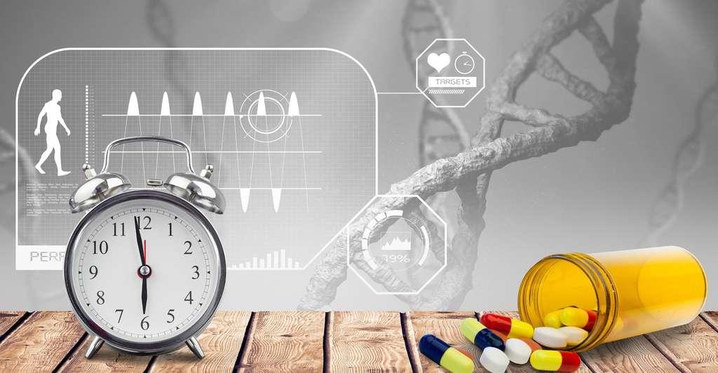 Savoir l'heure qu'il est dans notre corps est essentiel pour tirer le meilleur des médicaments contre l'hypertension artérielle ou de ceux utilisés dans le cadre de la chimiothérapie. © vectorfuionart, Fotolia