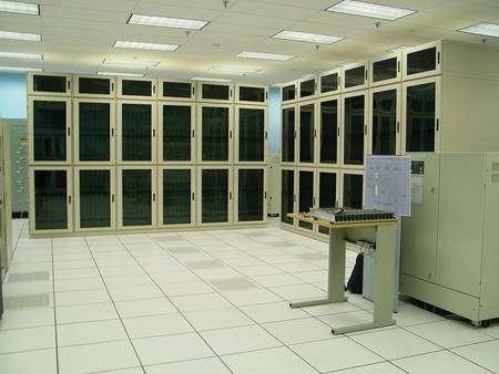 Deux superordinateurs pour les calculs de QCD sur réseaux à l'Université de Columbia. Crédit : Columbia University