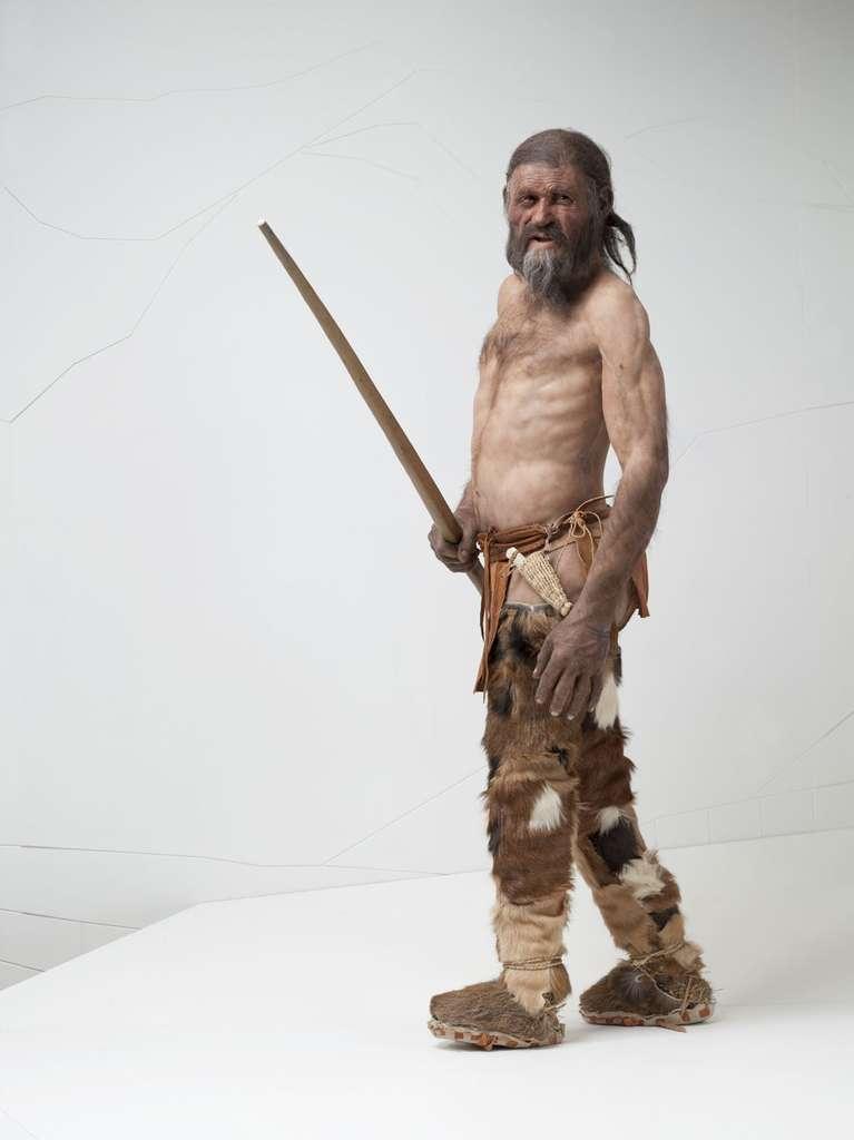 Reconstitution d'Ötzi, l'Homme des glaces. © Gumtau, Flickr, CC by-nc-sa 2.0