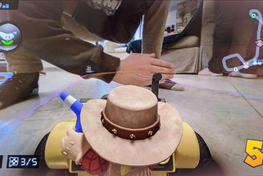S'incruster dans une partie de Mario Kart provoque des situations souvent hilarantes. © Marc Zaffagni