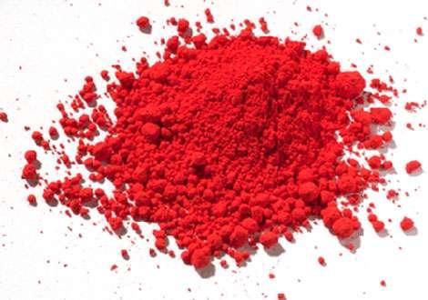Cinabre ; pigment de synthèse.