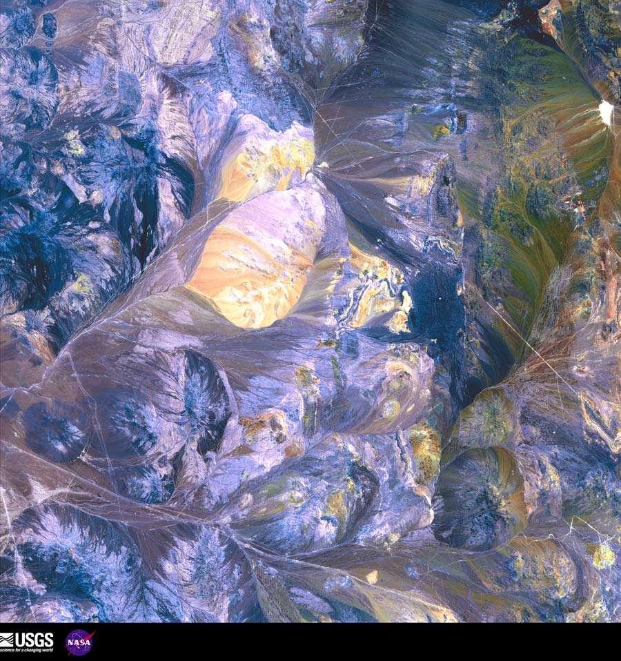 Les Andes vues depuis l'espace