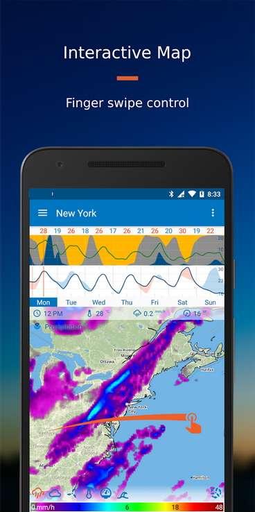 Flowx est l'application météo la plus originale du marché. © Flowx