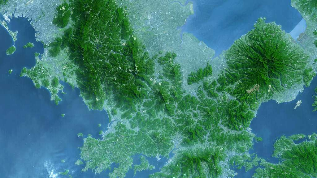 L'île de Kyūshū au Japon