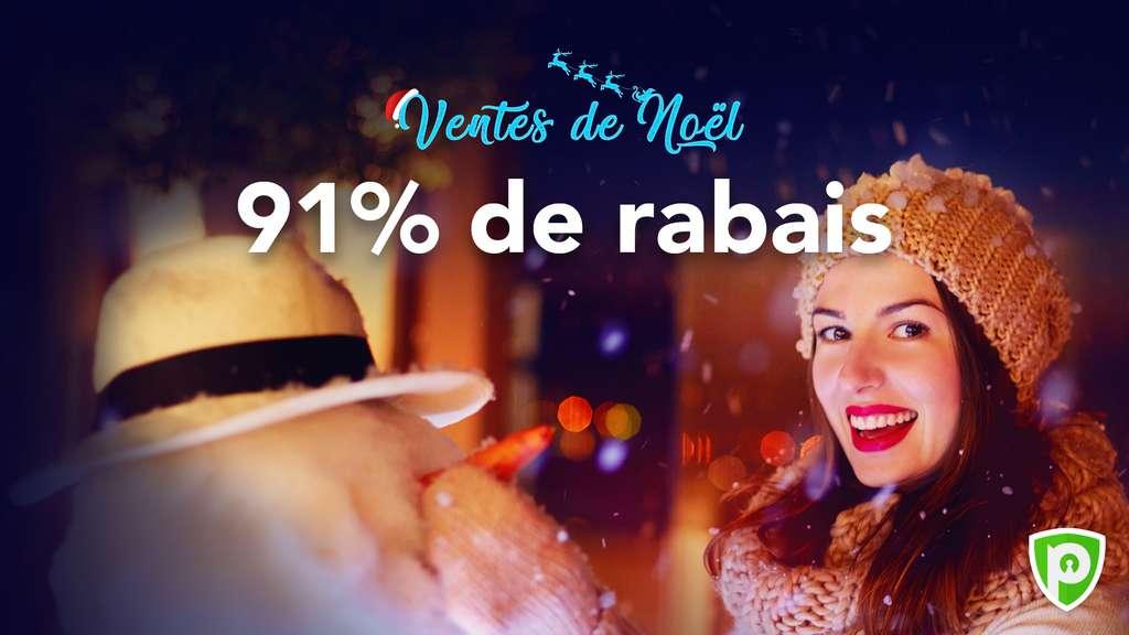 À l'occasion des fêtes de fin d'année, PureVPN propose une remise généreuse de 91 %.