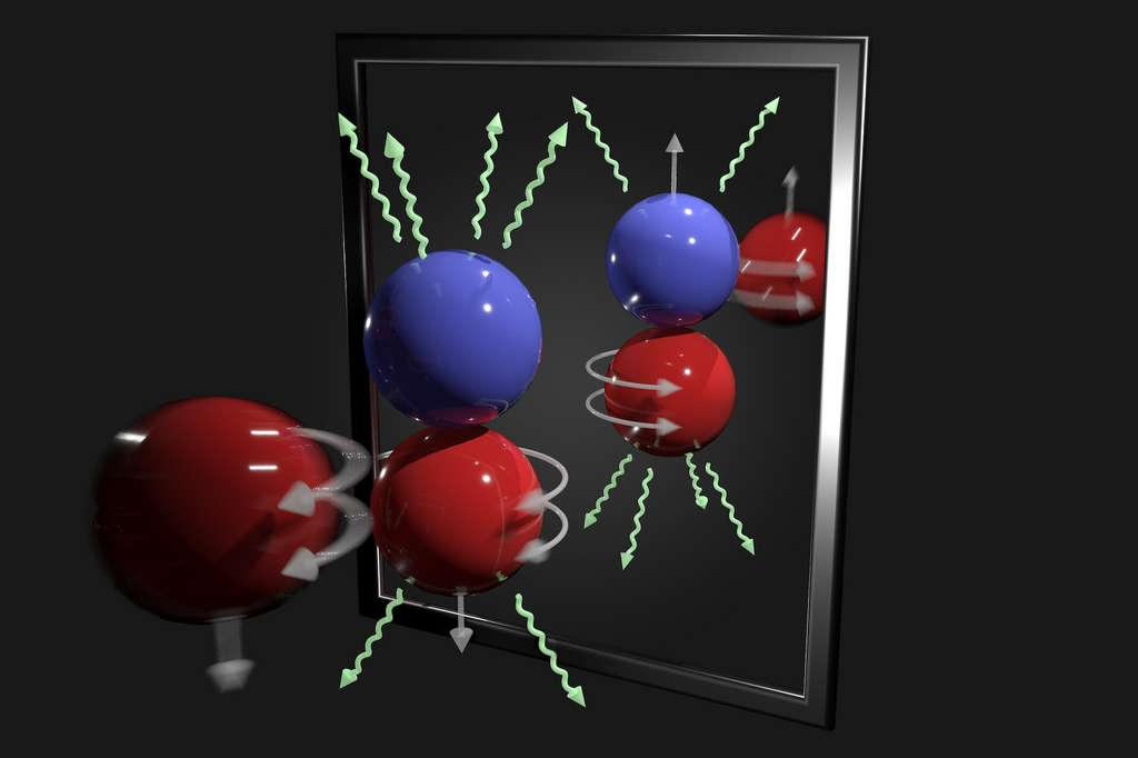Les scientifiques ont analysé les rayons gamma émis lorsque des neutrons sont capturés par des protons dans de l'hydrogène liquide. Une infime asymétrie leur a permis d'accéder à une composante de la force faible. © Andy Sproles, Laboratoire national d'Oak Ridge