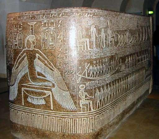 Le sarcophage de Ramsès III est conservé au musée du Louvre à Paris. Il a été extrait du tombeau KV 11 de la vallée des rois. © Greudin, Wikimedia Commons, DP
