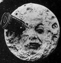 Le Voyage dans la Lune, 1902, selon Georges Méliès, Wikimedia Commons, domaine public