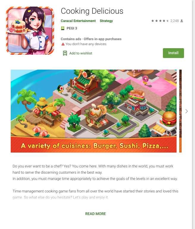 Une dizaine de jeux pour enfants contiennent le virus et l'installent à l'insu de l'utilisateur. © CheckPoint
