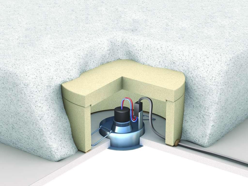 Ce modèle de capot protège contre les risques d'incendie, lorsque l'on encastre des spots dans un faux plafond ou un plancher de combles perdus. Moulé en vermiculite exfoliée, il est compatible avec tous les types d'isolants utilisables : en panneaux, en rouleaux ou en vrac. © Protect'Spot® de Soprema