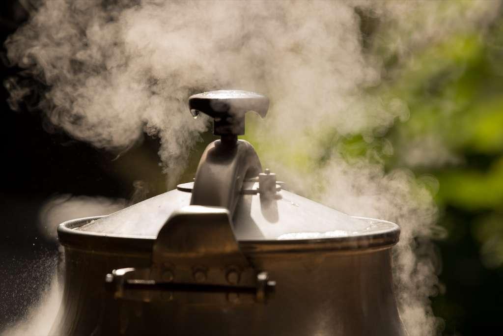Selon des chercheurs américains, un traitement à la chaleur sèche avec un simple autocuiseur de cuisine décontamine les masques FFP2. © Luis, Adobe Stock