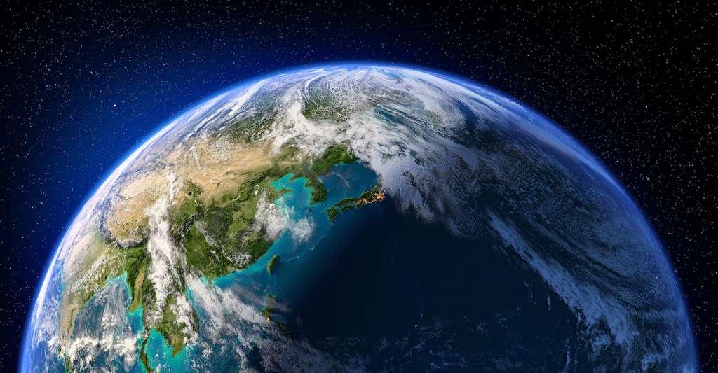 Les chercheurs de l'université de Cornell (États-Unis) se sont arrêtés sur un modèle de Terre prébiotique riche en CO2 datant d'il y a 3,9 milliards d'années, sur un modèle de Terre anoxique – comprenez, sans oxygène – datant d'il y a 3,5 milliards d'années et sur trois modèles marquant la montée de l'oxygène dans notre atmosphère, de 0,2 % aux 21 % actuels. © Anton Balazh, Adobe Stock