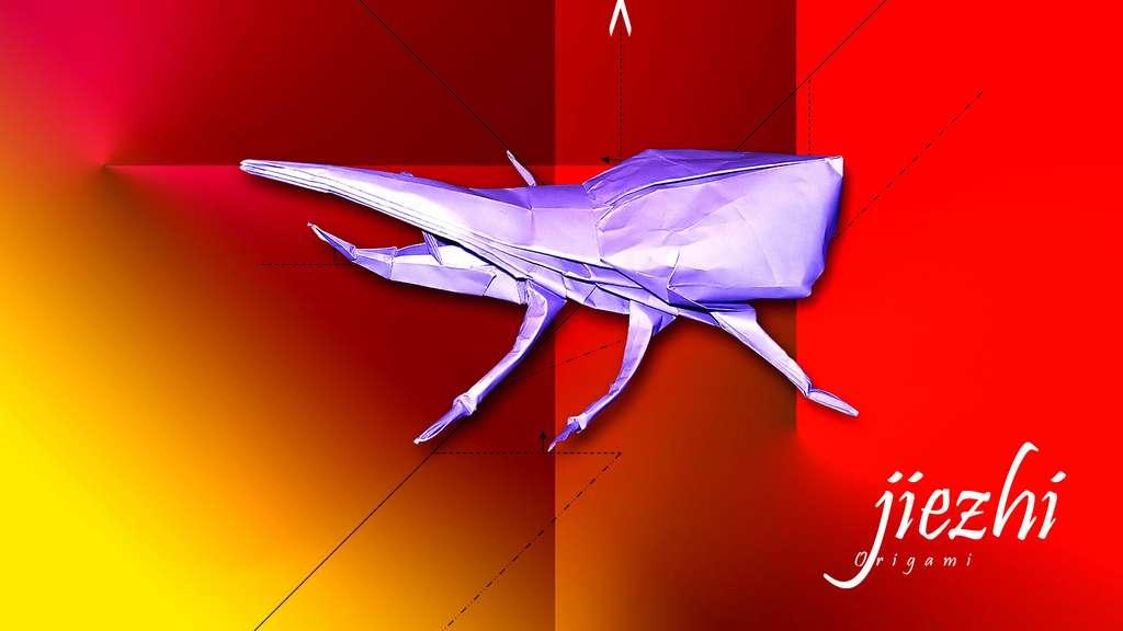 Un scarabée en papier
