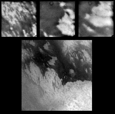 Zoom sur la surface de Titan