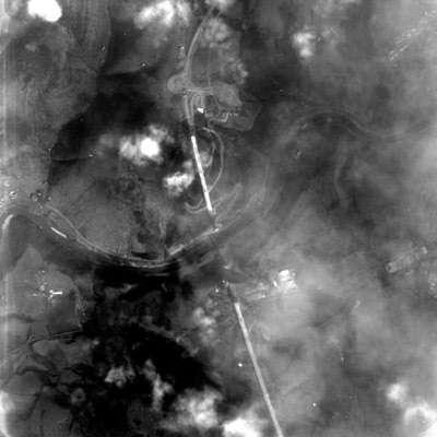 Le viaduc de Millau vu par le microsatellite Proba de l'ESA le 14 Mars 2004 (crédit : ESA)